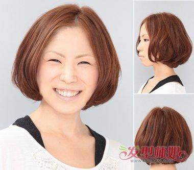 圆脸颧骨高适合的发型图片 头发不多圆脸适合什么发型图片