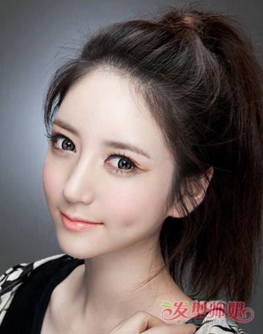 女生不要刘海头发扎起来的发型 女束刘海长发发型怎么图片