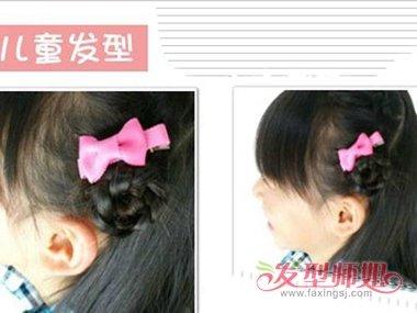 适合10岁儿童披头公主发型扎法 可爱公主披发编扎发发型(4)图片