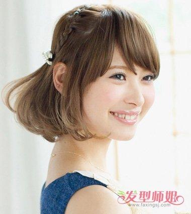 可爱青春短发扎发 青春靓丽短发(4)图片