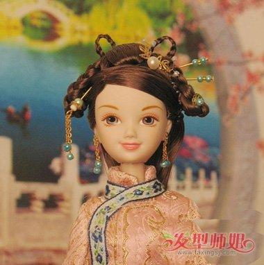 怎么给芭比娃娃做古装造型 芭比娃娃古装发型做法图片图片