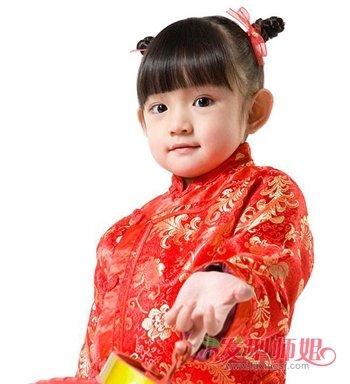 2018流行喜庆女孩发型 3到4岁小女孩发型(3)