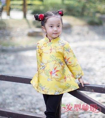 2018流行喜庆女孩发型 3到4岁小女孩发型(4)