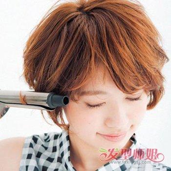 扎起来的中分短发发型 中分短发发型扎法(2)图片