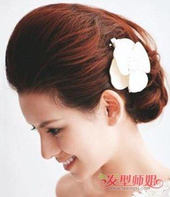 短发拍结婚照可以盘发吗 简单短发结婚盘头发型图片
