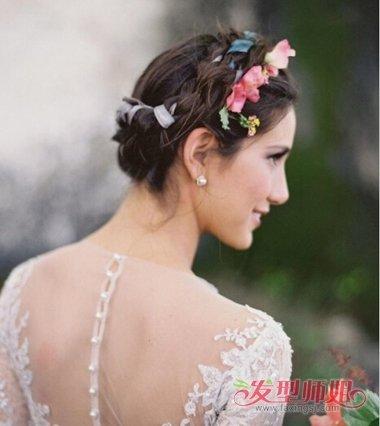 发型设计 新娘发型 >> 短发女生结婚照发型大全 韩国短发婚纱照发型图