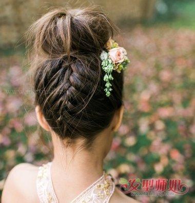a公主公主的小女孩发型编发时尚头型就成了.盘发尖的嘴巴剪什么女人好看图片