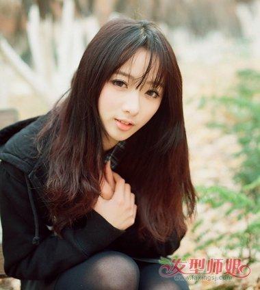女生小清新散发发型 2018清新高中女生发型做法(4)图片