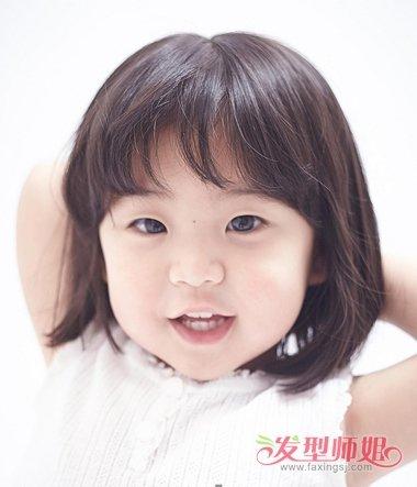 影楼小女孩发型 儿童摄影小女孩短发发型(3)