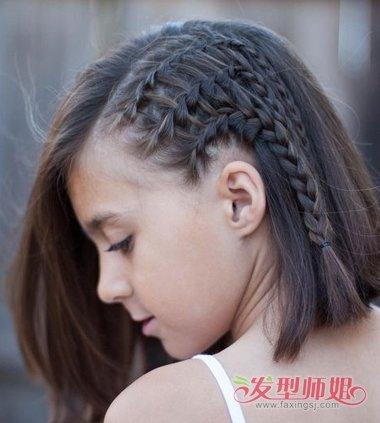 小清新短头发扎小学清新头发扎法(4)仪耘学生图片