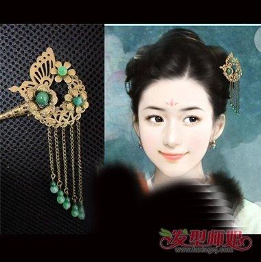 古代怎样用发簪挽头发有着很大讲究 如何用簪子挽头发图片