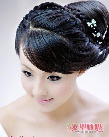 影楼新娘短发结合长假发发型 2019影楼写真发型图片图片