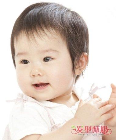 一岁半女宝宝时尚发型图片 时尚简约短发型