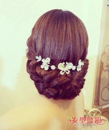 影楼新娘发型图片加文字步骤 2018影楼流行新娘发型(3图片