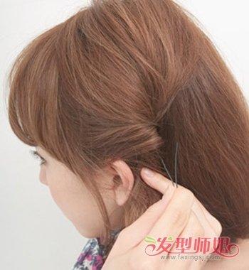 短头发怎么扎可爱好看的发型 可爱短发的扎法图解图片
