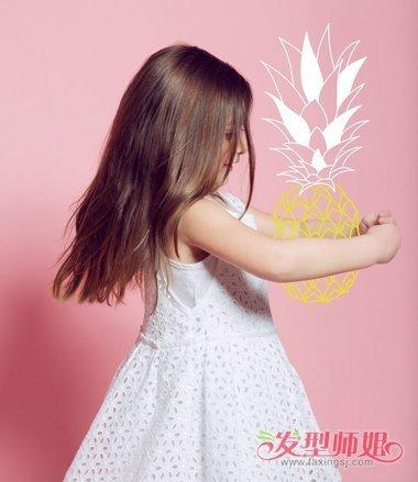 儿童直长发最新蓬蓬发型 内蓬直发发型图片图片