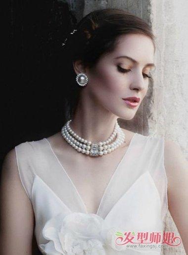 2018年最流行的气质新娘发型图片 2018年影楼最新新娘图片