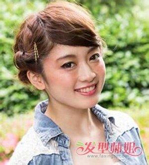 学生唯美短发盘发 零零后唯美女生短头发(4)_发型师姐图片