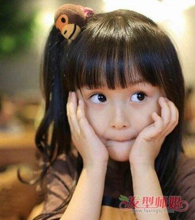 小朋友时尚扎头发发型 儿童女孩时尚发型图片