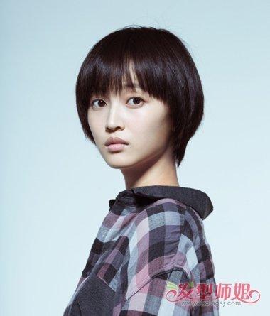 学生短发苹果头发型,正流行!图片