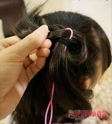 儿童蝴蝶结发型扎法图解4图片