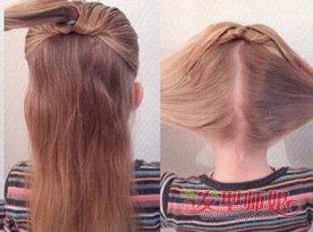儿童蝴蝶结发型扎法图解2图片