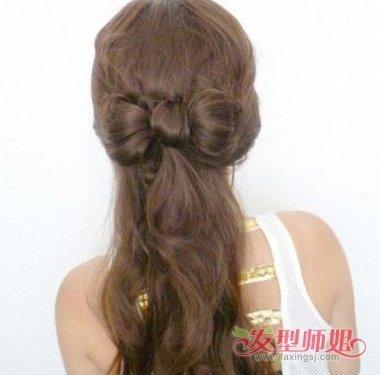 大蝴蝶结发型怎么扎发好看 蝴蝶结发型的扎发图片