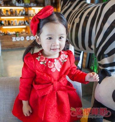新春小女孩喜气发型 2018新春小女孩发型(4)