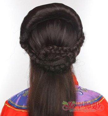 影楼红色古装发型教程 简单古装新娘发型教程图片
