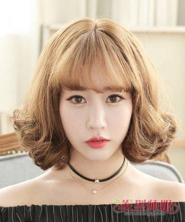 韩系短发水波 波浪式的短发(2)_发型师姐图片