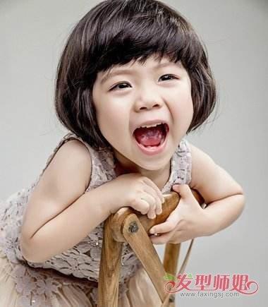 乖巧天真儿童头发 小女孩乖巧学生头_发型师姐