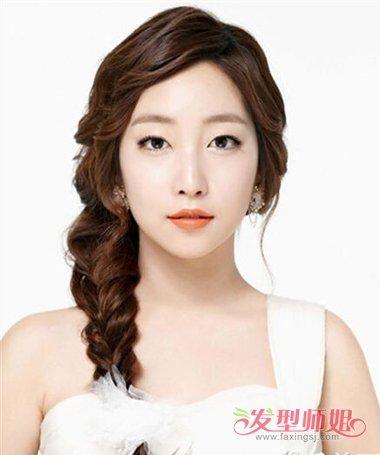 时尚个性新娘发型 2018韩国时尚发型图片