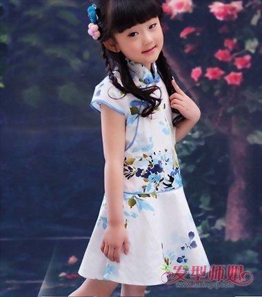 儿童旗袍发型 几种儿童简单的发型图片