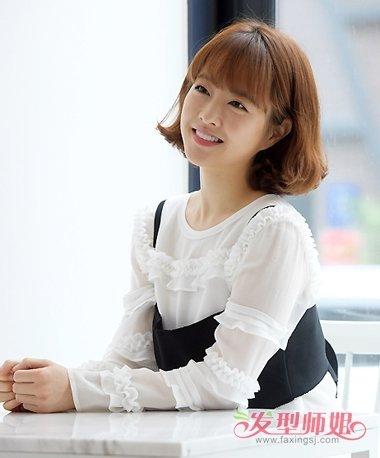 韩版女孩圆脸短发 朴宝英带你正确卖萌(2)