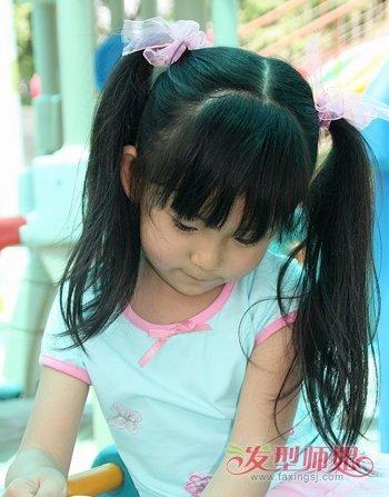 女童中分羊角辫发型图片五图片