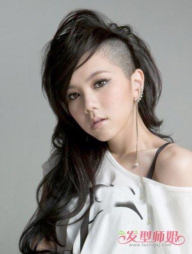 女生发型内部剃掉 头发内边剃掉的发型图片