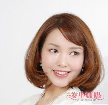 头扁的人适合什么刘海 头扁适合的刘海(3)_发型师姐