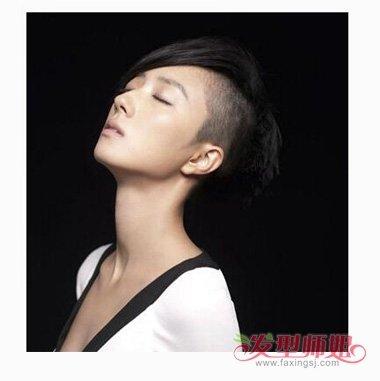 剃一半的女生短发 短发侧边剃光(4)图片