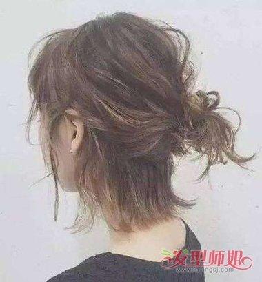 90后短头发扎发 90后女生扎头发图片大全_发型师姐图片