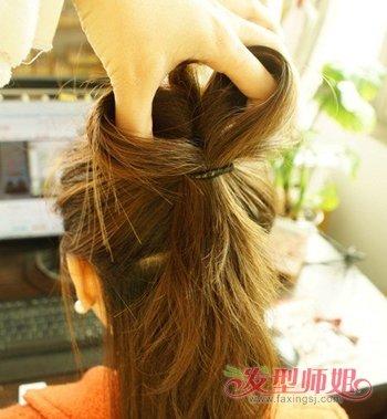 女生蝴蝶结发型扎法图解2图片