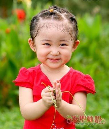 女宝宝扎辫子发型图片 流行美宝宝发型图片图片