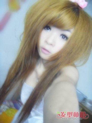 蓬松女非主流发型 头发蓬松的造型图片图片
