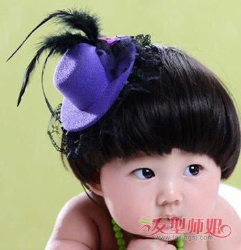 3岁以下女宝宝的发型 宝宝锅盖头发型设计图片