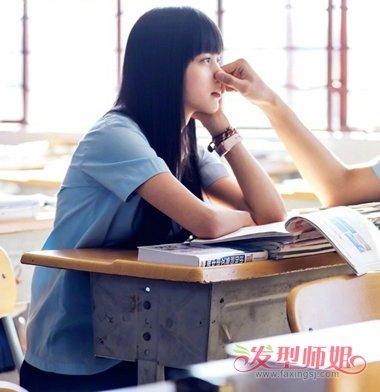 欧阳娜娜齐刘海图片