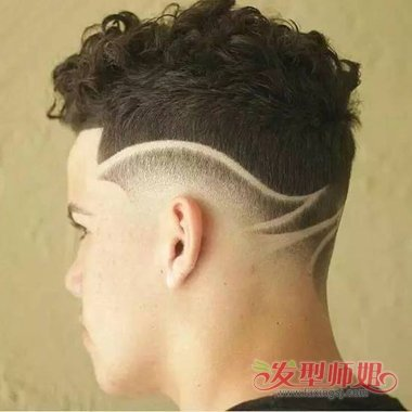 男生头发不留鬓角后脑勺头发怎么弄 男人理发方形脑袋图片