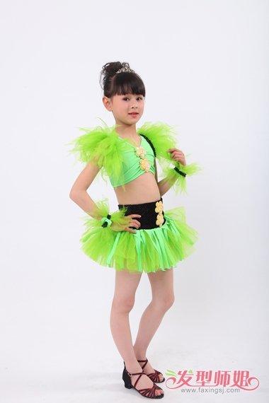 儿童舞蹈发型图片 幼儿园跳舞发型(2)图片