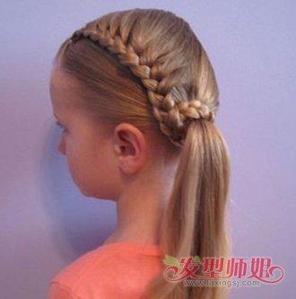 儿童什么发型最有魅力 儿童好看的发型扎法图解(6)图片