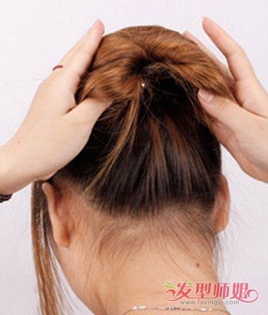 发型diy 盘发 >> 盘发器发型扎法组图 用盘发器盘头发型步骤 盘发(3)图片