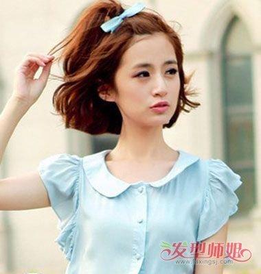韩国短发刘海扎法 有刘海短发怎么扎好看图解图片