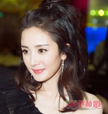 女孩苹果头扎发发型图片